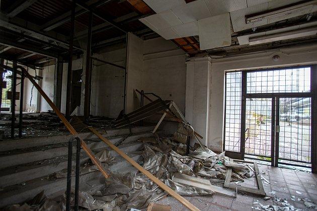 """Administrativní budova bývalého výzkumu jaderné energetiky ve Vítkovicích, přezdívaná také """"ostravský Pentagon.'"""