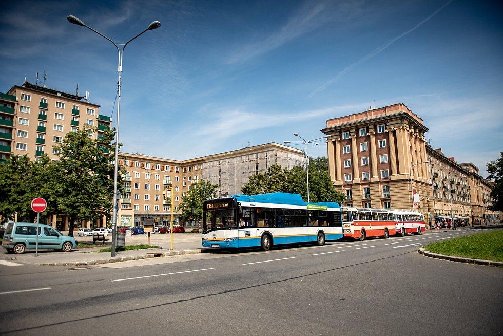 Jízdy historických vozidel Dopravního podniku Ostrava. 25. července 2020 v Ostravě.