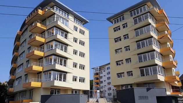 Nové domy na Slezské Ostravě jsou před dokončením