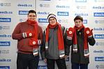 Snímek z fotokoutku Deníku v areálu Olympijského festivalu v Ostravě, 12. února 2018.