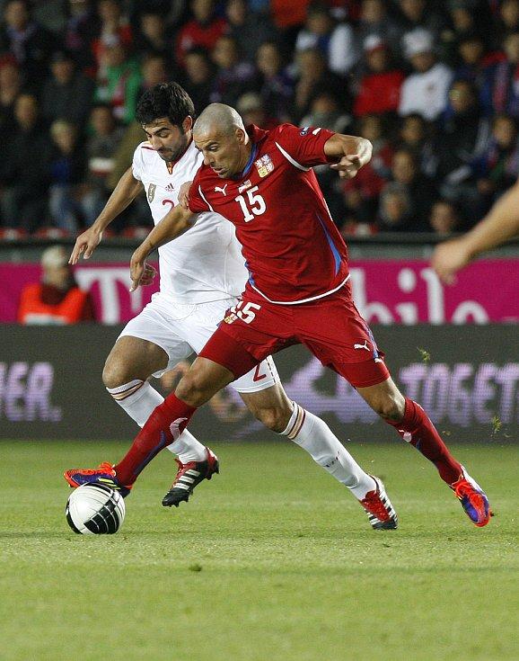 Milan Baroš během utkání se Španělskem na EURO 2012.