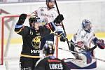 Utkání 52. kola hokejové extraligy: HC Vítkovice Ridera - HC Verva Litvínov, 8. března 2019 v Ostravě. Na snímku (zleva) Doudera Lukáš.
