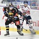 26. kolo hokejové extraligy: HC Vítkovice Ridera - HC Litvínov, 9. prosince 2018 v Ostravě. Na snímku (zleva) Ščotka Jan a Patrik Zdráhal.