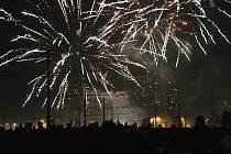 Novoroční ohňostroj v Ostravě-Jihu