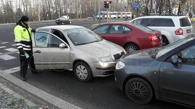 Nehoda v Ostravě-Porubě.