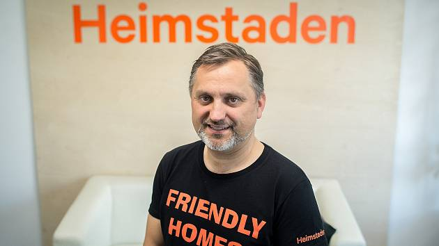 Tisková konference k rebrendingu Residomo na Heimstaden, 27. května 2020 v Ostravě. Generální ředitel společnosti Heimstaden Jan Rafaj.