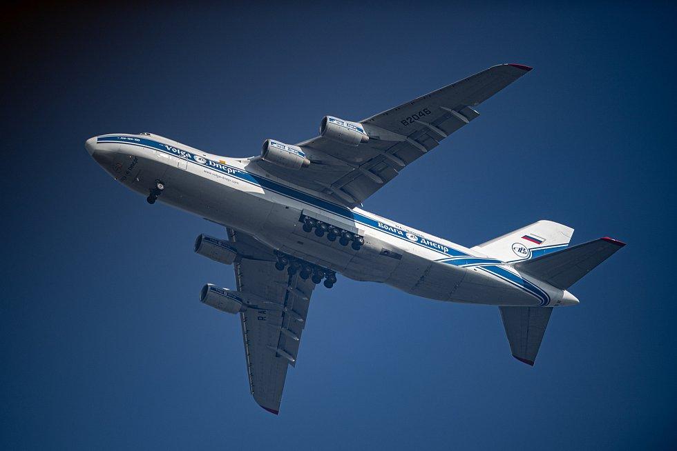 Letadlo Antonov An-124 Ruslan prolétá nad Ostravou 13. září 2021.