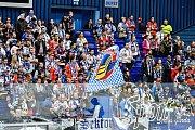 Utkání předkola play off hokejové extraligy - 2. zápas: HC Vítkovice Ridera - HC Sparta Praha, 12. března 2019 v Ostravě. Na snnímku fanoušci domácího týmu.