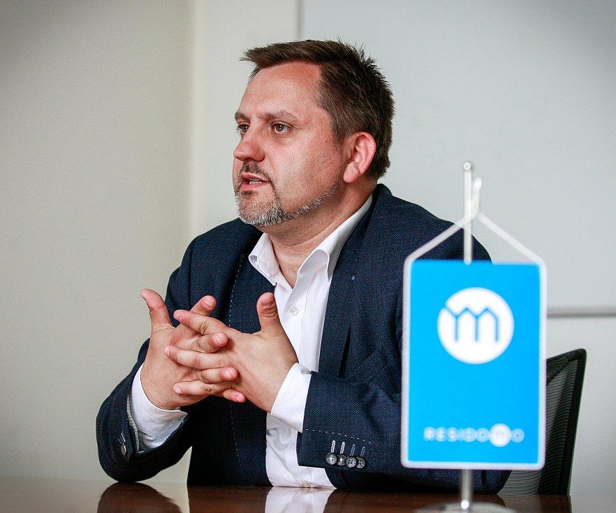 Generální ředitel společnosti Residomo Jan Rafaj při rozhovoru pro Deník.