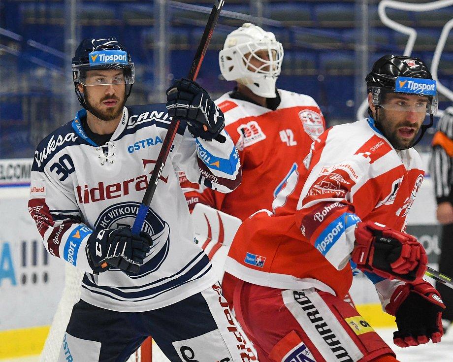 HC Vítkovice Ridera – HC Olomouc 1:2 v prodloužení, přípravný zápas v Ostravě, 10. září 2020. Domácí útočník Josef Mikyska.
