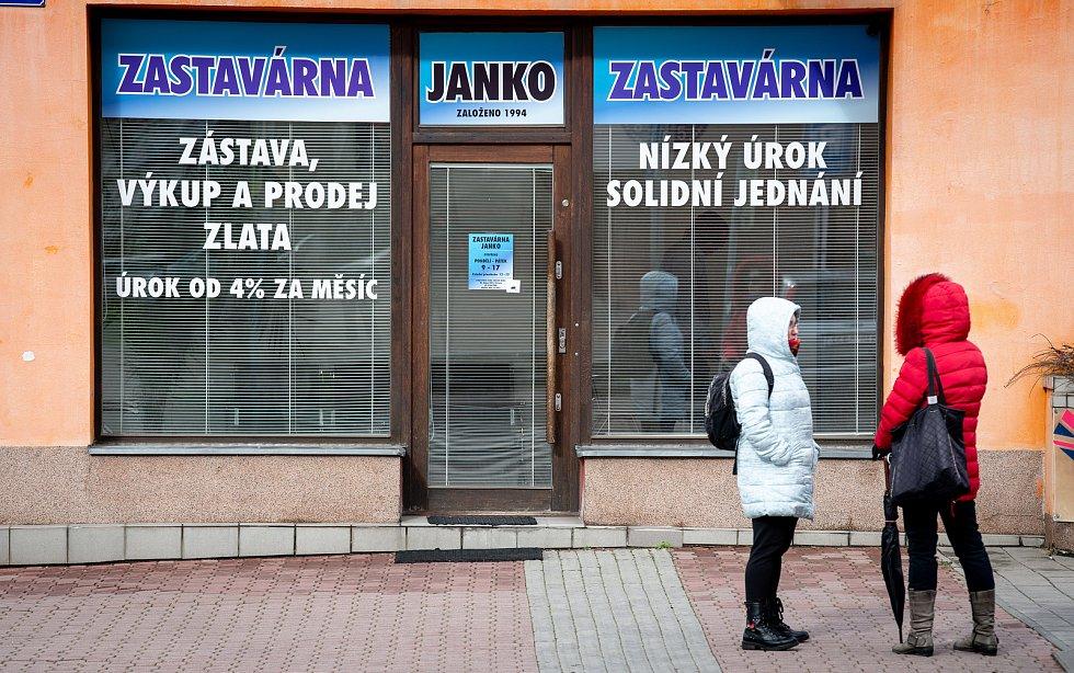 Zastavárna Janko na ulici 30. Dubna, 2. března 2020 v Ostravě.