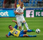I. liga, 4. kolo, FC Baník - FK Teplice: 3 : 3, na snímku v bílém Tomáš Mičola