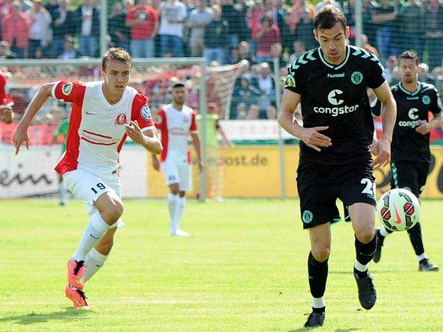 Martin Skřehot (vlevo) v dresu německého klubu FSV Optik Rathenow.