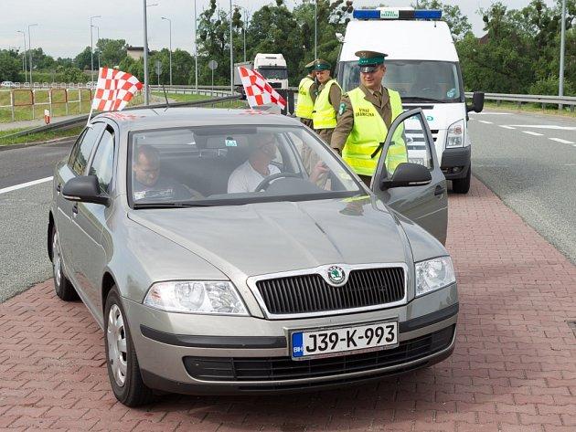 Kontrola na česko-polské hranici.
