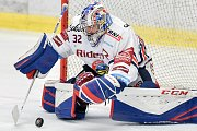 Utkání 40. kola hokejové extraligy: HC Vítkovice Ridera - HC Dynamo Pardubice, 9. ledna 2019 v Ostravě. Na snímku brankář Vítkovic Patrik Bartošák.