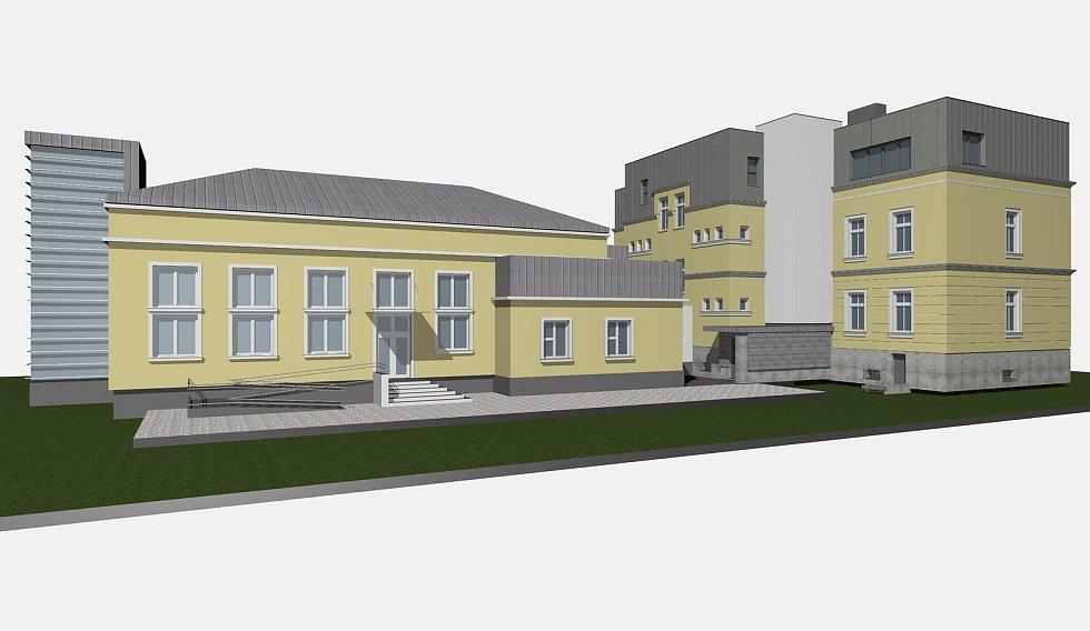Vizualizace rekonstrukce tělocvičny u budovy Slezské diakonie. Vizualizace: se souhlasem úřadu Ostravy-Nové Vsi