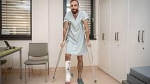 Nshan Avetisjan poskytl Deníku rozhovor v nemocnici, 19. října 2021 ve Frýdku-Místku.