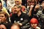 V sobotu odpoledne se uskutečnilo setkaní s voliči v divadle Petra Bezruče v Ostravě s kandidátem na úřad prezidenta Karlem Schwarzenbergem.