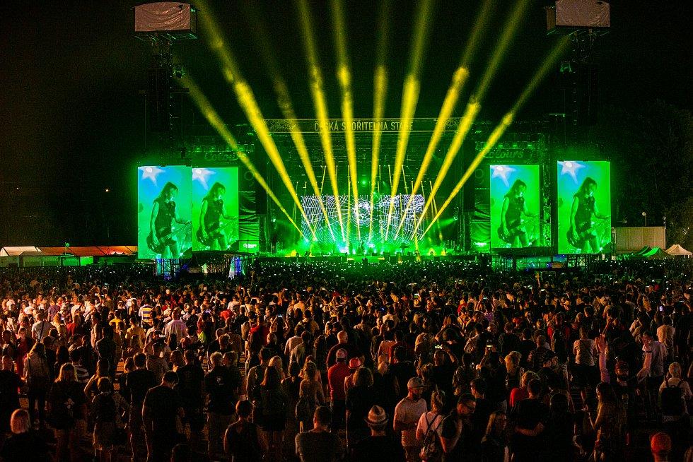 Hudební festival Colours of Ostrava 2019 v Dolní oblasti Vítkovice, 20. července 2019 v Ostravě.Na snímku The Cure.