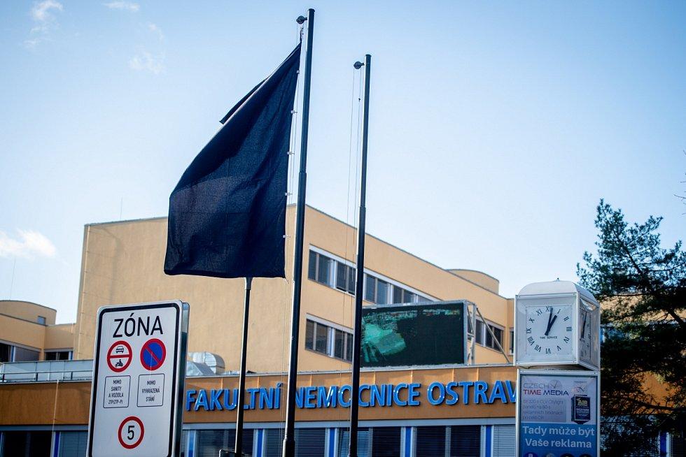 Zásah policie ve Fakultní nemocnice Ostrava.