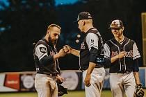 Baseballisté Arrows Ostrava se ve třetím zápase finálové Czech Series v Brně budou snažit zastavit rozjeté Draky. Foto: Tomáš Srnský