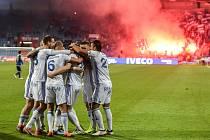 Utkání 22. kola první fotbalové ligy: FC Baník Ostrava - 1. FC Vysočina Jihlava, 30. března 2018 v Ostravě.