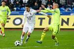 FC Baník Ostrava – MFK Karviná, vlevo Robert Hrubý, vpravo Marek Janečka