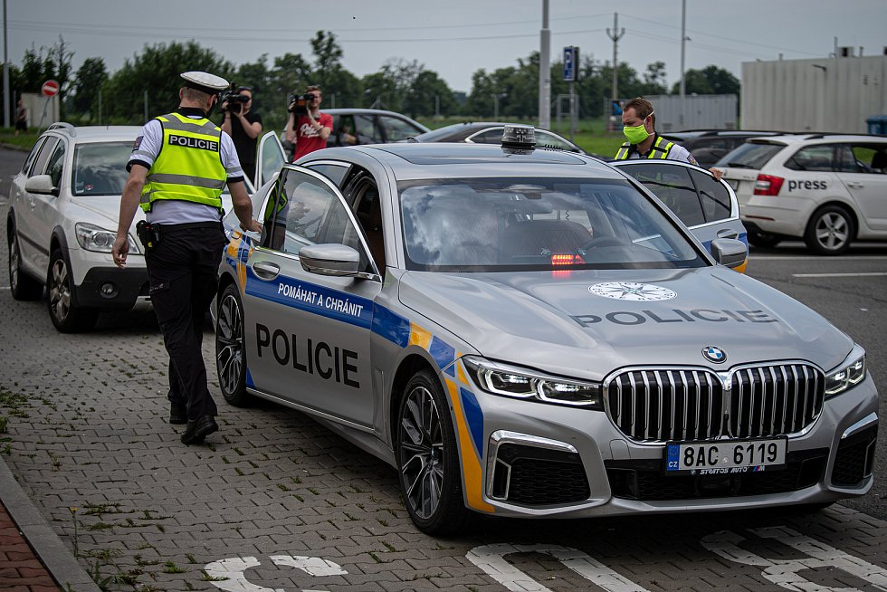 Dopravně bezpečnostní akce PČR v Ostravě.