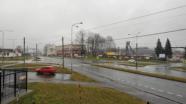 Křižovatka ulic Michálkovická, Hladnovská a Keltičkova ve Slezské Ostravě.