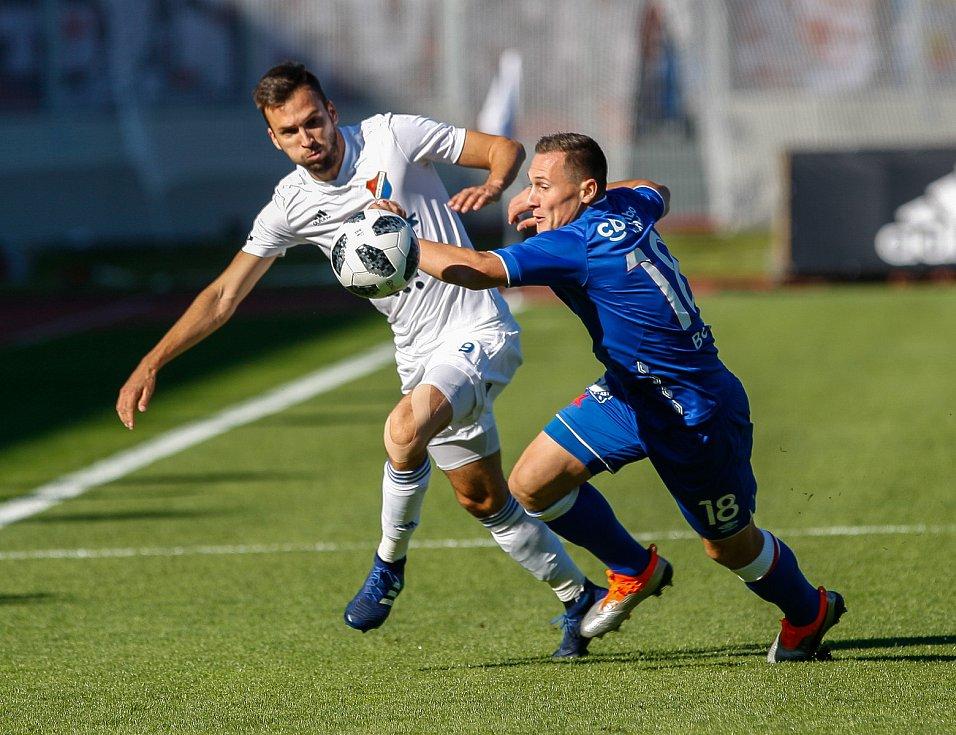 FC Baník Ostrava – SK Slavia Praha, vlevo Lukáš Pazdera, vpravo Jan Bořil