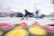 Olympijský festival u Ostravar Arény, 12. února 2018 v Ostravě. Curling.