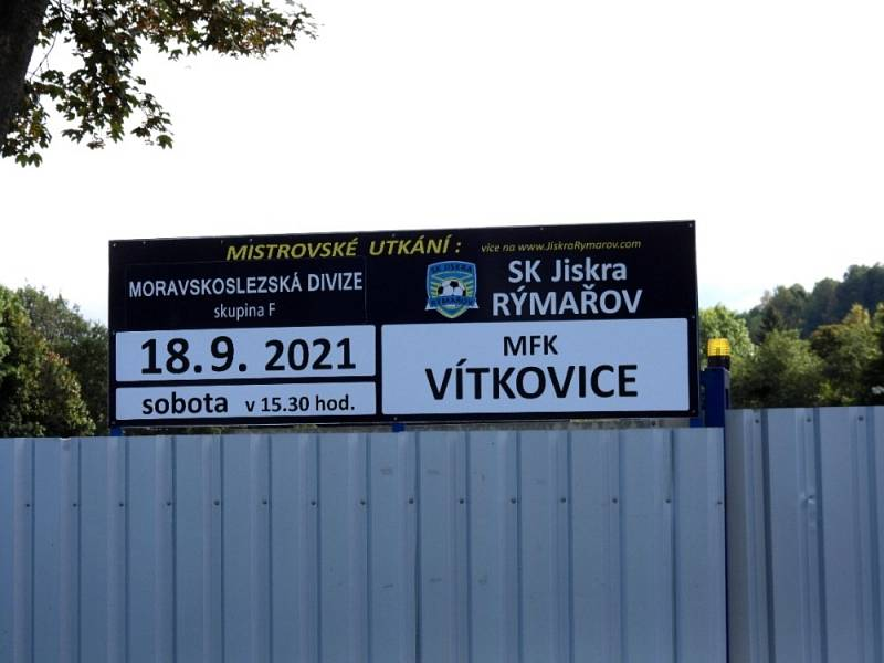 Rýmařov – Vítkovice 5:1 (8. kolo divize F, sobota 18. 9. 2021).