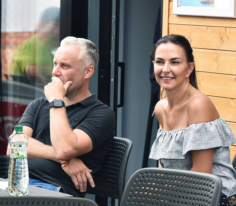 Padelový turnaj osobností v Ostravě vynesl 151 tisíc korun. (17. července 2021). Na snímku ředitel akce Aleš Richter.