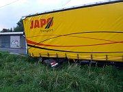 Nehoda kamionu ve Starém Bohumíně.