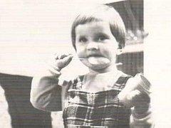 Spisovatelka Eva Tvrdá na snímku z dětství.