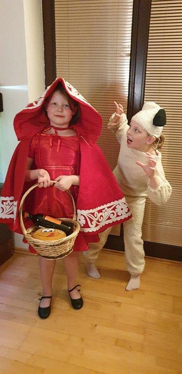 Snímky účastníků Maškarního plesu. Poslala Kateřina Andrlová.