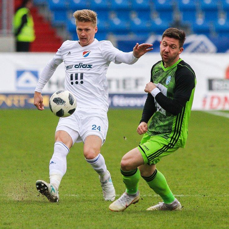 Utkání 25. kola první fotbalové ligy: FC Baník Ostrava - FK Mladá Boleslav, 16. března 2019 v Ostravě. Na snímku (zleva) Václav Procházka, Tomáš Přikryl.