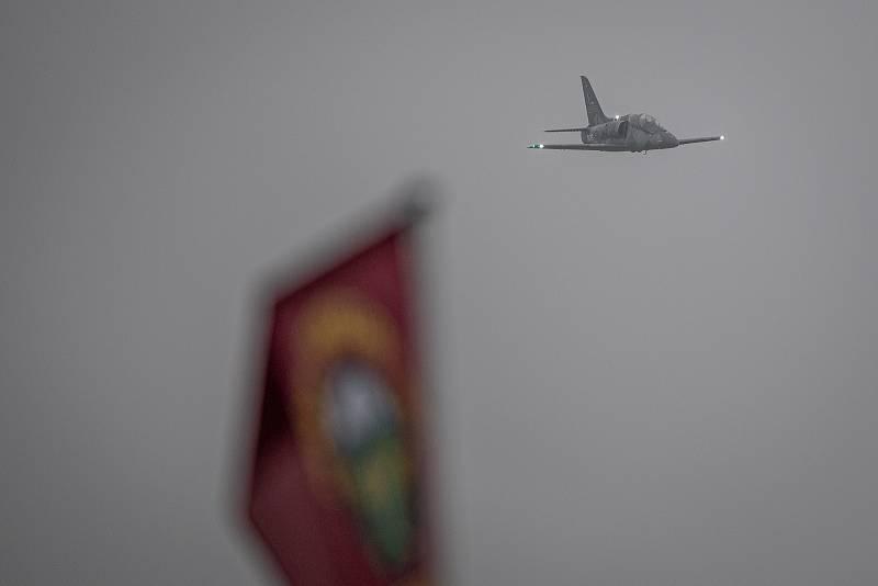 Na letišti v Mošnově na Novojičínsku pokračovaly 19. září 2021 dvoudenní Dny NATO a Dny Vzdušných sil Armády ČR, které jsou největší bezpečnostní přehlídkou v Evropě. Na snímku je letoun L-39NG.