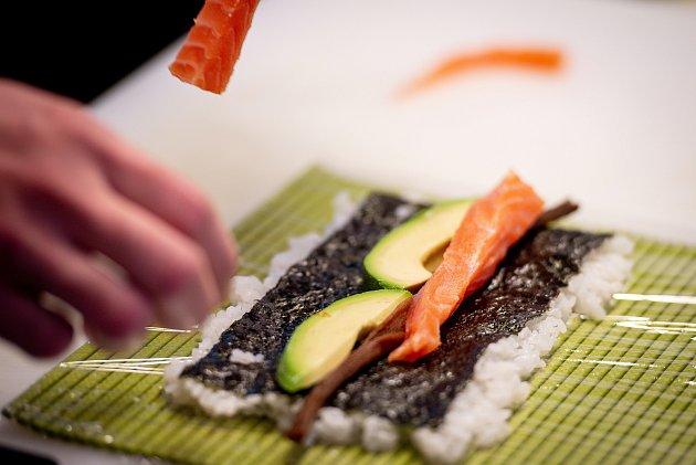 Snímek zrestaurace Gókaná Sushi bar vOstravě.