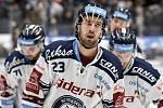 Utkání 51. kola hokejové extraligy: HC Vítkovice Ridera - HC Energie Karlovy Vary, 3. března 2020 v Ostravě. Ondřej Roman z Vítkovic.