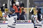 Utkání 51. kola hokejové extraligy: HC Vítkovice Ridera - HC Energie Karlovy Vary, 3. března 2020 v Ostravě. Hráči Vítkovic se loučí s fanoušky.