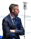 Utkání předkola play off hokejové extraligy - 2. zápas: HC Vítkovice Ridera - HC Sparta Praha, 12. března 2019 v Ostravě. Na snímku trenér HC Vítkovice Ridera Jakub Petr.