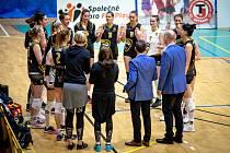 Čtvrtfinále play-off volejbalové extraligy žen - 4. zápas: TJ Ostrava - VK Šelmy Brno, 14. března 2021 v Ostravě.