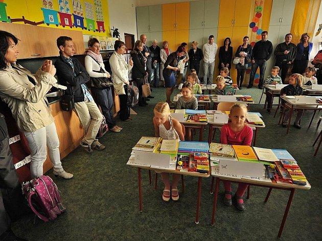 První školní den v základní škole v Krásném Poli.
