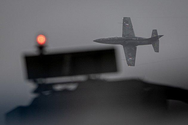 Na letišti vMošnově na Novojičínsku pokračovaly 19.září 2021dvoudenní Dny NATO a Dny Vzdušných sil Armády ČR, které jsou největší bezpečnostní přehlídkou vEvropě. Na snímku je letoun L-39NG.