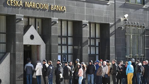 Zájem o unikátní mince v Ostravě byl velký.