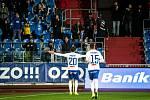 Utkání 16. kola fotbalové Fortuna ligy: FC Baník Ostrava - MFK Karviná, 8. listopadu 2019 v Ostravě. Na snímku zleva Jakub Pokorný, Patrizio Stronati.