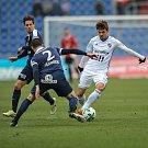 Zápas 17. kola první fotbalové ligy mezi FC Baník Ostrava a 1. FC Slovácko, 17. února 2018 v Ostravě. (vpravo) Jirásek Milan.
