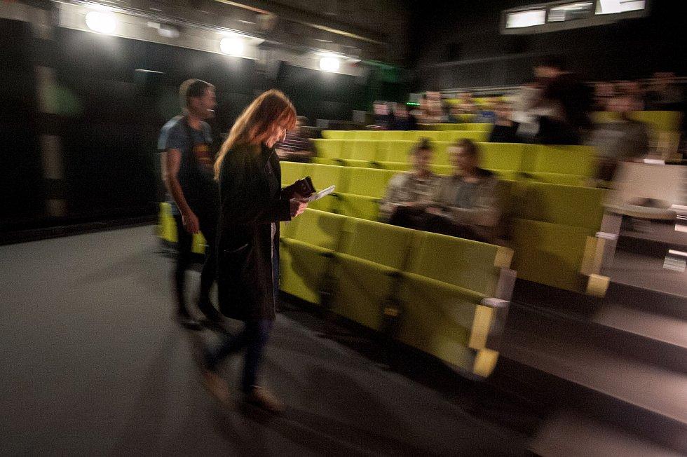 Na satirický snímek Prezident Blaník se v sobotu v podvečer přišli do ostravského kina Cineport podívat z větší části ti, kteří dlouhodobě sledovali seriál Kancelář Blaník na internetovém kanále Stream.