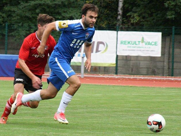 Fotbalisté Vítkovic (v modrém). Ilustrační foto.